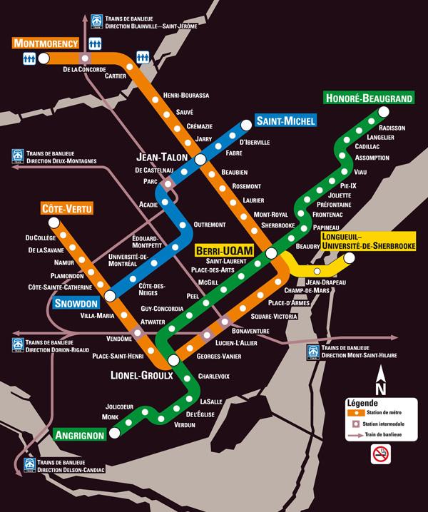 Subway Map Rent.Vacationrentalmontreal Com Montreal Metro Map Downtown Montreal